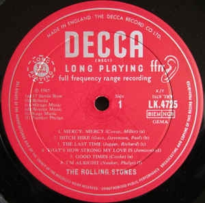 Unboxed Decca label