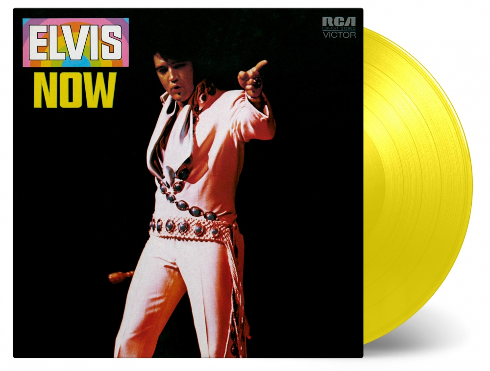 Elvis Now is available as a first pressing of 2500 individually numbered copies on solid yellow coloured vinyl.